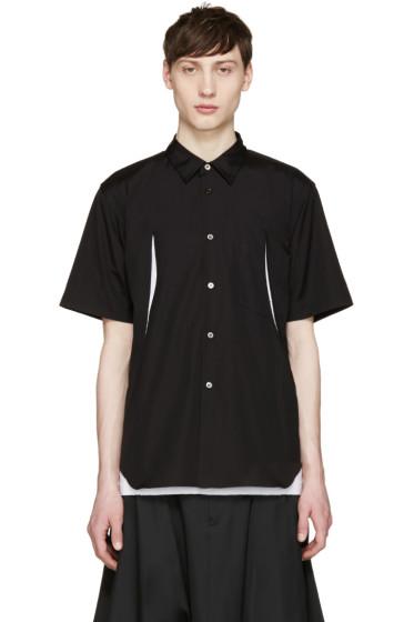 Comme des Garçons Homme Plus - Black Poplin Slits Shirt
