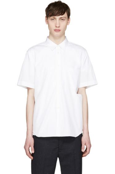 Comme des Garçons Homme Plus - White Poplin Slit Shirt