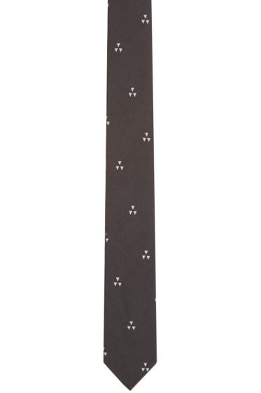 Neil Barrett - Black Batik Print Tie