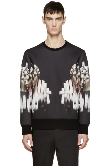 Neil Barrett - Black Neoprene Sliced Hercules Sweatshirt