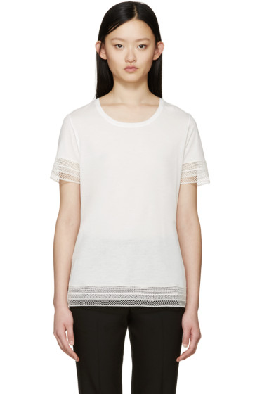 Burberry Prorsum - Off-White Broderie Anglaise T-Shirt