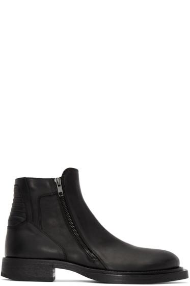 Ann Demeulemeester - Black Biker Ankle Boots