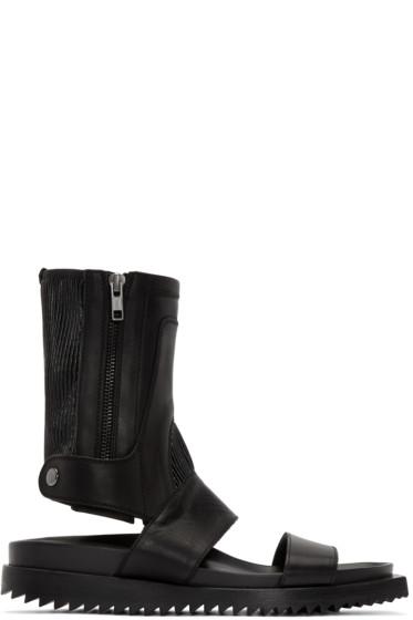 Ann Demeulemeester - Black High Leather Sandals