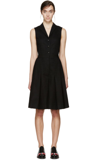 Thom Browne - Black Broderie Anglaise Jumpsuit