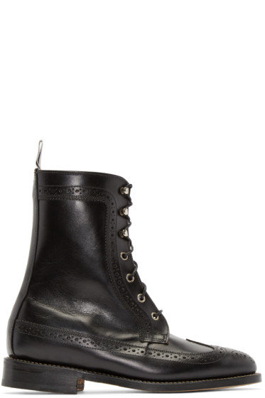 Thom Browne - Black Classic Longwing Boots