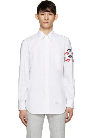 Thom Browne - White Oxford Fish Shirt