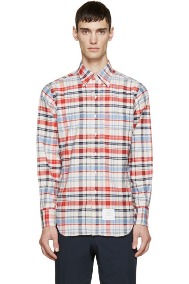 Thom Browne - Multicolor Plaid Shirt