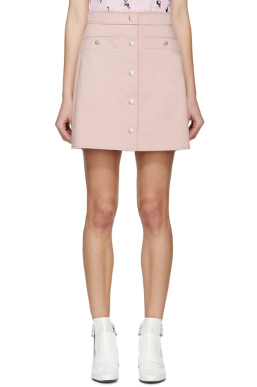 Kenzo - Pink Twill Buttoned Miniskirt