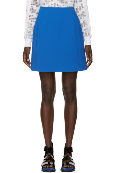 Kenzo - Blue Textured Miniskirt