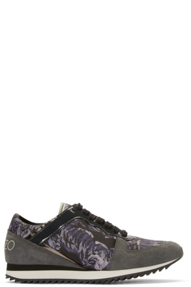 Kenzo - Grey & Purple Flying Tiger Sneakers