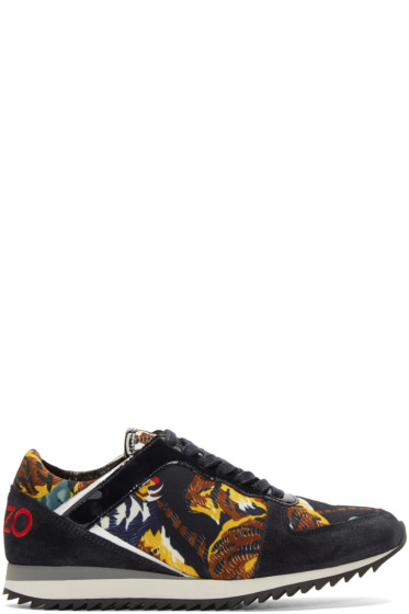 Kenzo - Navy Flying Tiger Print Sneakers