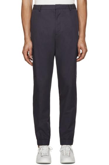 Kenzo - Navy Linen Cargo Pants