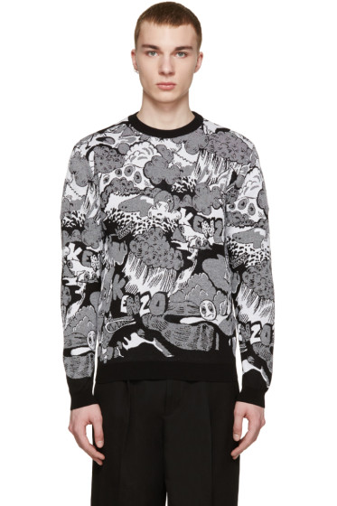 Kenzo - Black & White Cartoon Sweater