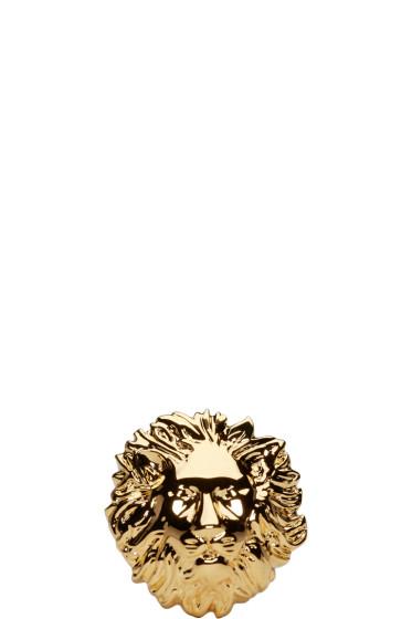 Versus - Gold Lion Ring