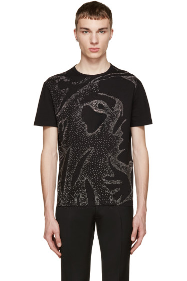 Versus - Black Studded Lion T-Shirt