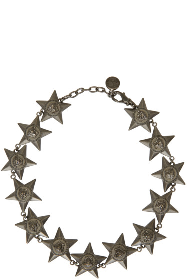 Versace - Black Medusa Stars Necklace
