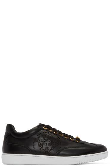 Versace - Black Perforated Medusa Sneakers