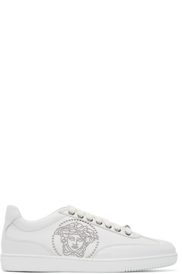 Versace - White Leather Perforated Medusa Sneakers