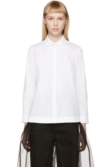 Simone Rocha - White Beaded Badge Shirt