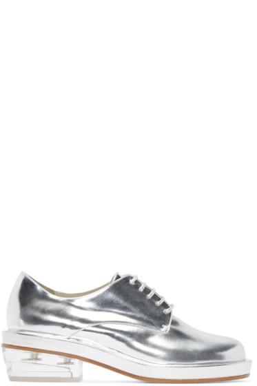Simone Rocha - Silver Perspex Heel Derbys