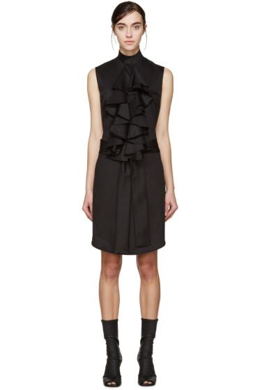Denis Gagnon - SSENSE Exclusive Black Poplin Ruffle Dress