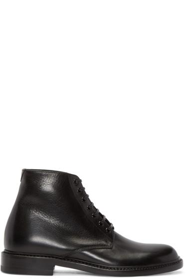 Saint Laurent - Black Leather Lolita Boots