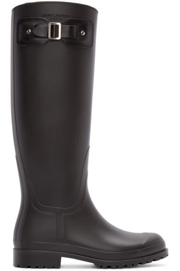Saint Laurent - Black Rubber Festival Boots