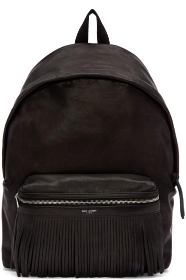 Saint Laurent - Black Leather Delave Backpack