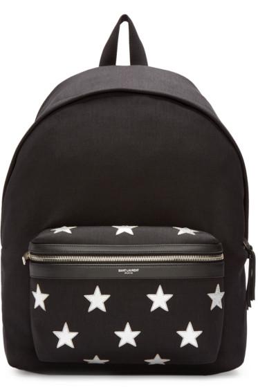Saint Laurent - Black Canvas Stars Hunting Backpack