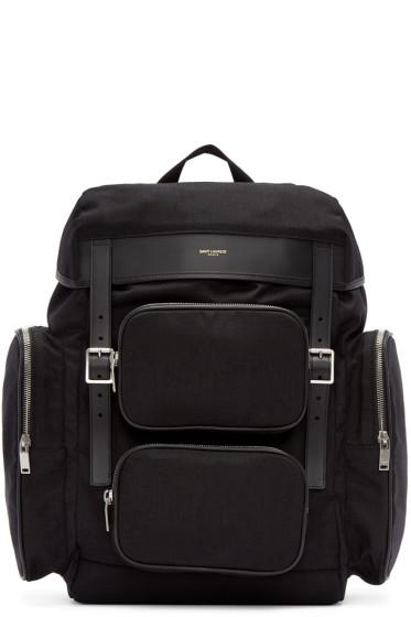 Saint Laurent - Black Canvas Hunting Backpack