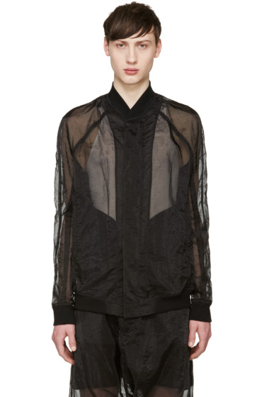 Julius - Black Organza Bomber Jacket