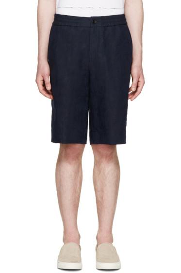 PS by Paul Smith - Navy Jacquard Palm Tree Shorts