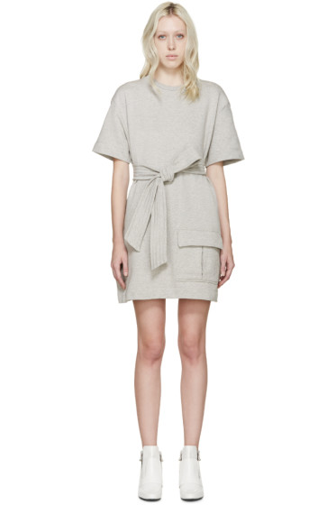 MSGM - Grey Belted Pullover Dress