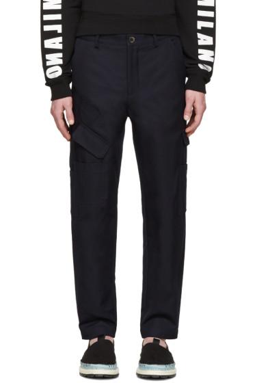 MSGM - Navy Cargo Pants