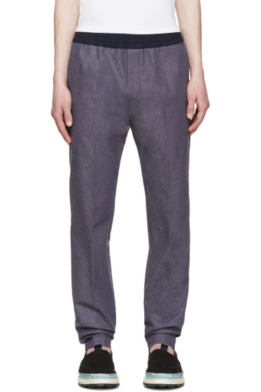 MSGM - Navy Chambray Trousers
