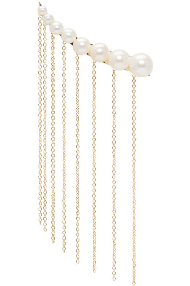 Sacai - Gold & Pearl Sophie Bille Brahe Edition Single Earring