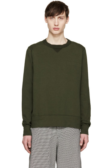 Sacai - Green Cotton T-Shirt