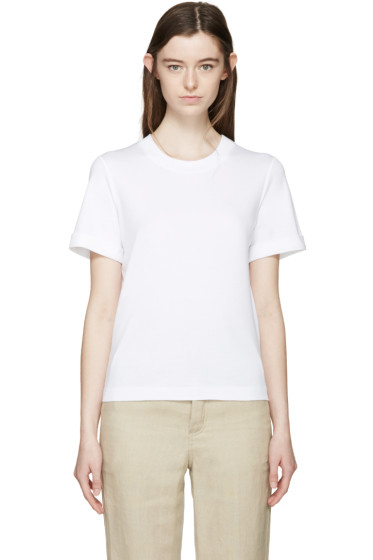 Cédric Charlier - White Rolled Cuff T-Shirt