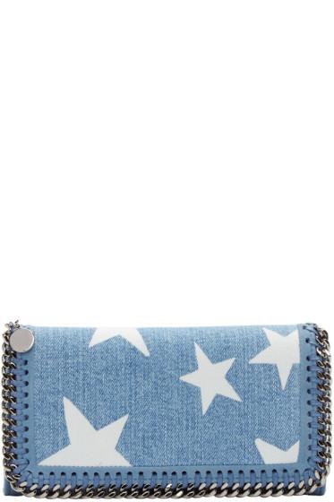 Stella McCartney - Blue Denim Falabella Stars Wallet