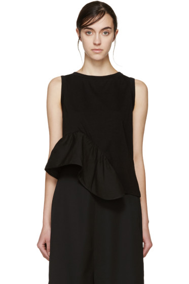 Stella McCartney - Black Ruffled T-Shirt