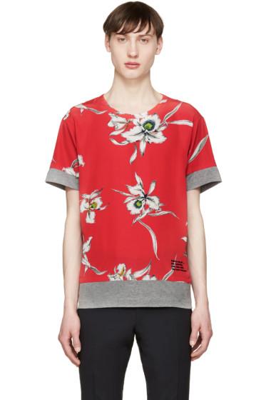 Valentino - Grey & Red Flower T-Shirt