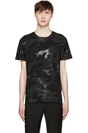 Valentino - Black Camouflage T-Shirt