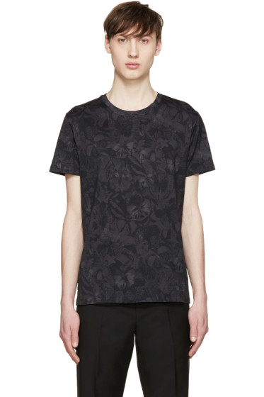 Valentino - Black Butterfly Camouflage T-Shirt