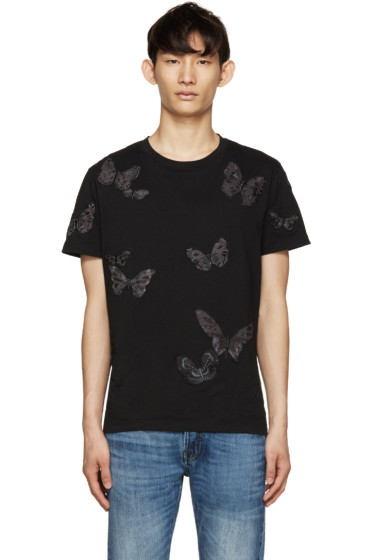 Valentino - Black Butterfly T-Shirt