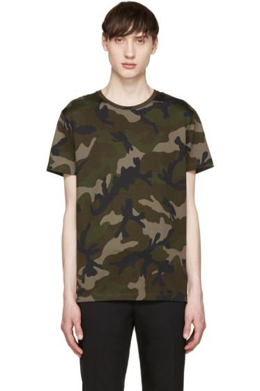 Valentino - Green & Black Camouflage T-Shirt