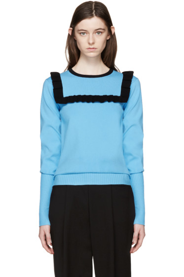 J.W.Anderson - Blue Frill Sweater