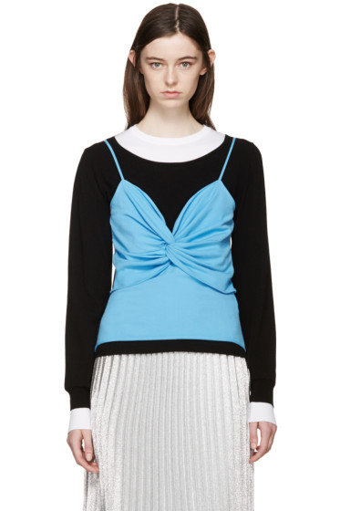 J.W.Anderson - Black & Blue Twist Bodice Sweater