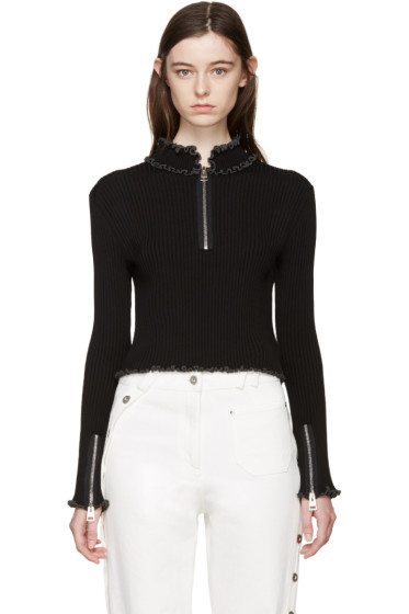 J.W.Anderson - Black Ruffled Collar Polo