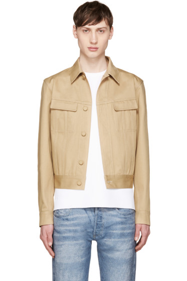 Calvin Klein Collection - Beige Cotton Twill Jacket