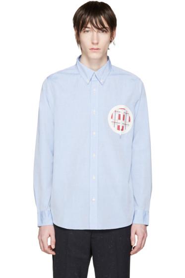 Visvim - Blue Embroidered Pocket Shirt